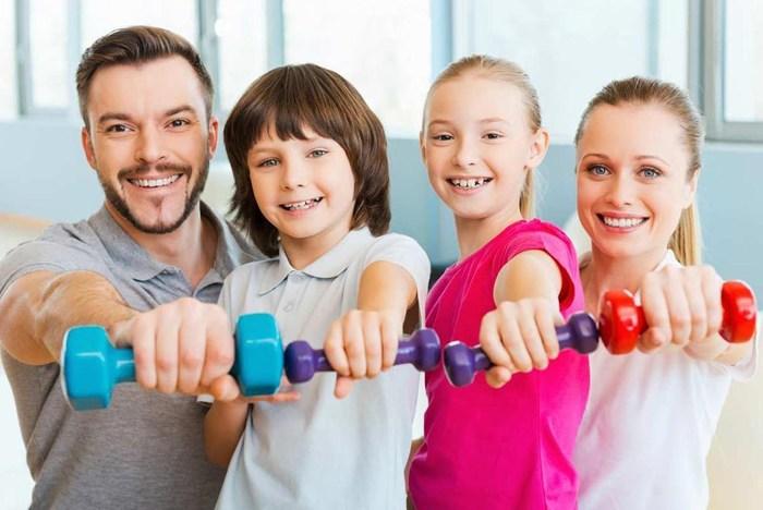 Фитнес для детей и родителей - изображение